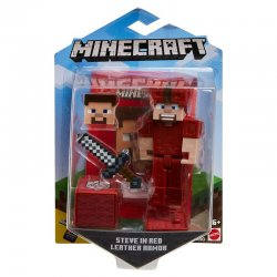 Minecraft Steve in red leather armor Comic Maker FIgure